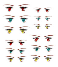 ED6-23 Parabox Eye Decal Set 23 for 11cm-27cm Fashion Dolls