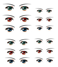 ED6-24 Parabox Eye Decal Set 24 for 11cm-27cm Fashion Dolls