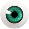 6LD03 6mm Half Round Acrylic Eyes - Green