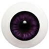 6LD08 6mm Half Round Acrylic Eyes - Violet