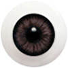 6LD11 6mm Half Round Acrylic Eyes - Gray