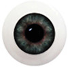 8LB04 8mm Full Round Acrylic Eyes - Green Gray