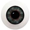 8LB04 8mm Full Round Acrylic Eyes - Green Gray