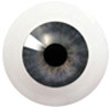 8LB08/8LB02 8mm Full Round Acrylic Eyes - Dark Violet