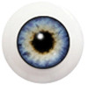 8LC01 8mm Full Round Acrylic Eyes - Pearl Blue