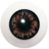 8LC06 8mm Full Round Acrylic Eyes - Gray Brown