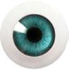 8LD01 8mm Full Round Acrylic Eyes - Blue