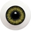 8LD05 8mm Full Round Acrylic Eyes - Yellow Gray