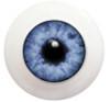 8LF01 8mm Full Round Acrylic Eyes - Pale Blue