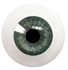 8LG05 8mm Full Round Acrylic Eyes - Red Green