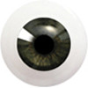 8LK03 8mm Full Round Acrylic Eyes - Deep Green