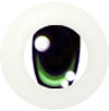 8CD02 8mm Full Round Acrylic Character Eyes - Chara Green