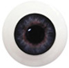 10LB02 10mm Full Round Acrylic Eyes - Dark Violet