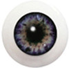 10LC02 10mm Full Round Acrylic Eyes - Slate Blue