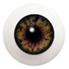 10LC03 10mm Full Round Acrylic Eyes - Deep Green Gray