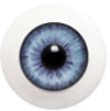 10LD07 10mm Full Round Acrylic Eyes - Light Violet