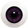 10LD08 10mm Full Round Acrylic Eyes - Violet