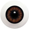 10LD10 10mm Full Round Acrylic Eyes - Dark Brown