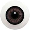 10LD11 10mm Full Round Acrylic Eyes - Gray