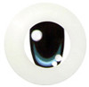10CD01 10mm Full Round Acrylic Character Eyes - Chara Oval Blue