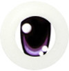 10CD05 10mm Full Round Acrylic Character Eyes - Chara Oval Purple
