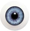 14LD07 14mm Full Round Acrylic Eyes - Light Violet