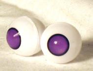 18GJ01 18mm Full Round Acrylic Eyes - Grape Jelly Pupiless
