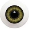 18LD05 18mm Full Round Acrylic Eyes - Yellow Gray
