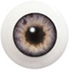 20LC05 20mm Full Round Acrylic Eyes - Pale Gray