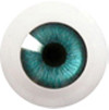 20LD01 20mm Full Round Acrylic Eyes - Blue