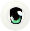 20CA02 20mm Half Round Acrylic Character Eyes - Chara Oval Green