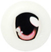 20CA07 20mm Half Round Acrylic Character Eyes - Chara Oval Pink