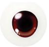 20CJ03 20mm Half Round Acrylic Character Eyes - Chara Orange