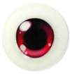 20CJ06 20mm Half Round Acrylic Character Eyes - Chara Red