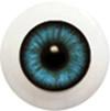 22LD02 22mm Half Round Acrylic Eyes - Cobalt