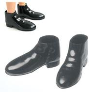 27SH-R002B M-111 Obitsu Short Black Boots for 27cm Obitsu Male Dolls