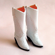 27SH-F008W Obitsu Cowboy Boots White for 21cm-27cm Obitsu Dolls