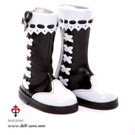 0610 Dollzone MSD Slip-on Boots Black and White
