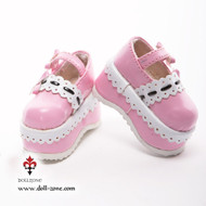 0612 Dollzone MSD Shoes Pink and White