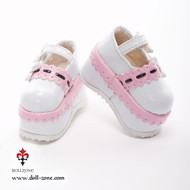 0613 Dollzone MSD Shoes Pink and White