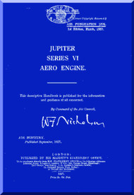 Bristol Jupiter Series VI Aircraft Engine Maintenance Manual  ( English Language )