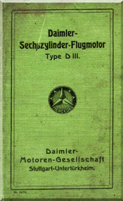Daimler D.III  Aircraft   Engine Operating   Manual , (German Language )