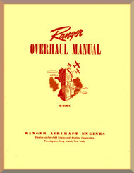 Ranger 6-440 C -2 -3 -4 -5   Aircraft Engine  Overhaul Manual  ( English Language )