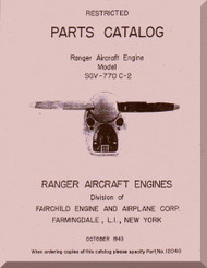 Ranger SGV-770  Aircraft Engine  Parts Catalog  Manual  ( English Language )