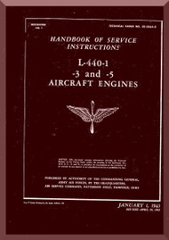 Ranger L-440 C -1 -3 -5   Aircraft Engine  Maintenance Manual  ( English Language )