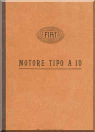 FIAT Motori Aviazione A.10 Aircraft Engine Manual ( Italian Language )