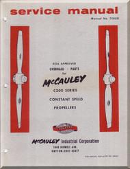 McCauley C200 Series Constant Speed  Propellers  Aircraft    Manual, - Repair - Overhaul - Parts  ( English Language