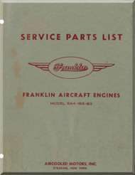 Franklin 6A4-165-B3 Aircraft Engine  Spare Parts Catalog   Manual  ( English Language )