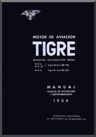 Elzalde Tigre   Aircraft Engine  Technical Manual  (Spanish Language )