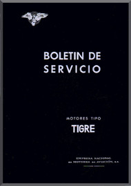 Elzalde Tigre   Aircraft Engine Service Bulletins Manual  (Spanish Language )